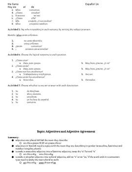 Comprehensive Spanish IA Grammar Review