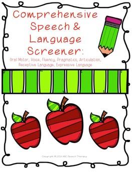 Comprehensive Speech & Language Screener