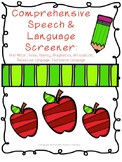 Comprehensive Speech & Language Screener