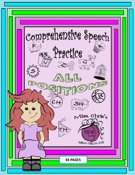 Comprehensive Speech Practice for Articulation Therapy ~All Positions and Levels
