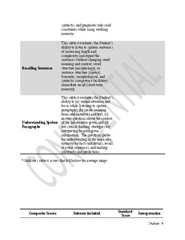 Comprehensive Speech and Language Evaluation Report Template for younger student
