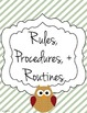 Customizable Substitute Resource Binder - Owl and Stripe Theme