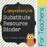 Substitute Binder - Stripes - CUSTOMIZABLE!