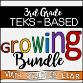 HUGE Third Grade TEKS - Aligned GROWING Product Bundle