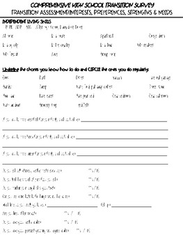 Comprehensive Transition Survey