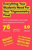 Comprehensive Trigonometry Final Review Packet