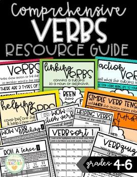 Verbs Comprehensive Resource Guide - Grades 4-6