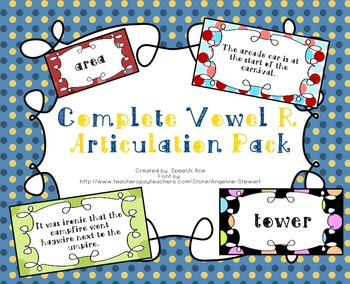 Comprehensive Vowel R Words and Sentences Pack