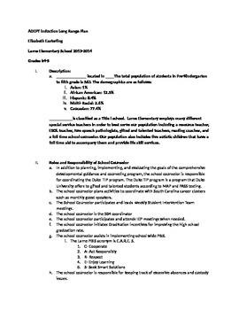 Comprehensive counseling program Long Range Plan