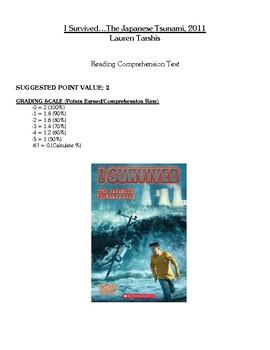 Comprehenstion Test - I Survived the Japanese Tsunami, 2011 (Tarshis)
