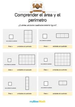 Comprender el área y el perímetro 1 -¿Cuántas unidades cuadradas mide la figura?