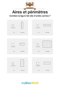 Comprendre l'aire et le périmètre 1 - L'aire en unités carrées -CM1