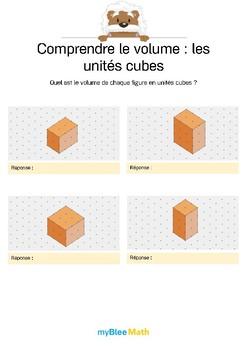 Comprendre le volume 10 -Compter le volume en unités cubes