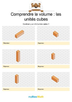 Comprendre le volume 2 -Compter le volume en unités cubes