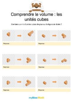 Comprendre le volume 4 -Comparer le volume de deux figures en unités cubes