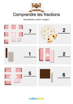 Comprendre les fractions 2 - Compléter la fraction en s'ai