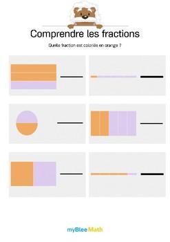Comprendre les fractions 5 - Quelle fraction est coloriée en orange ?