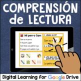 Comprensión de lectura for Google Drive Distance Learning
