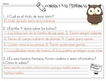 Comprensión de la lectura en español: jugando a los detectives - octubre