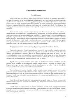 Comprensión lectora Un fenómeno inexplicable cuento de Leopoldo Lugones