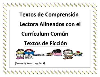Comprension Lectora Alineada con el Curriculum Comun- Textos de Ficcion