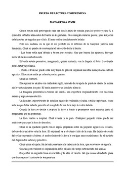 Comprensión Lectora (Español) 6º Básica