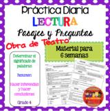 Comprensión de Lectura Obra de Teatro Drama Grado 4 Reading in Spanish