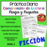Comprensión de Lectura Práctica Diaria Ficción /Reading Comprehension in Spanish