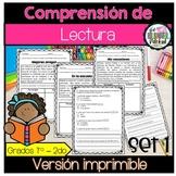 Comprension de lectura - Spanish reading comprehension