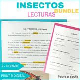 Comprensión de lectura Insectos BUNDLE - Insects in Spanis
