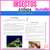 Comprensión de lectura de insectos BUNDLE - insects in Spanish