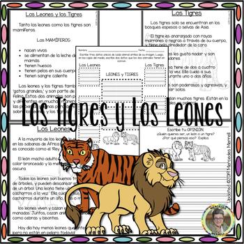 Comprensión Lectora: Comparar y Contrastar MÁS Escritura Opinión (en ESPAÑOL)