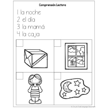 Compression Lectora - Reading Comprehension SPANISH