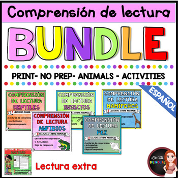 Reading comprehension in Spanish/animals/ informational readings in Spanish