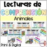 Reading comprehension in Spanish/animals