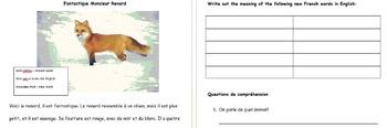 Compréhension de lecture - Core French