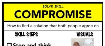 Compromise Social Skill Steps Poster - The Empower Program K-2