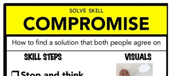 Compromise Social Skill Steps Poster - The Empower Program K-2