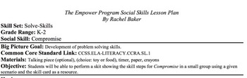 Compromise - Social Skills Lesson Plan