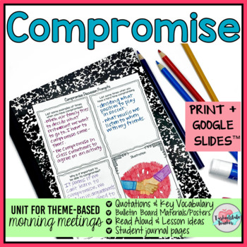 Morning Meeting Activities for Compromise - Theme in Literature