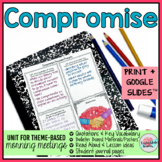 Compromise Activities | Compromise Morning Meeting Theme in Literature