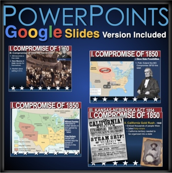 Compromise of 1850 - A.P., Honors PPT & Keynote with Lecture Notes
