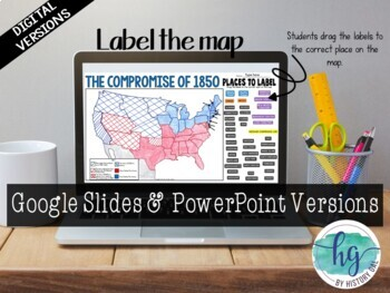 Compromise Of 1850 Map Activity By History Gal Tpt