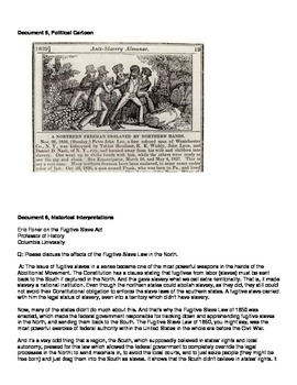 Compromise of 1850 and Fugitive Slave Act Primary Documents