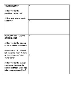 Compromise to the Constitution Graphic Organizer & Practice