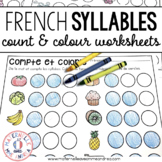 Compte et colorie! Les syllabes (FRENCH Syllable counting worksheets)