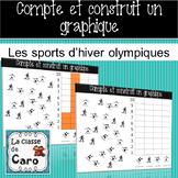 Compte et construit un graphique - Les sports olympiques d'hiver - (French-FSL)
