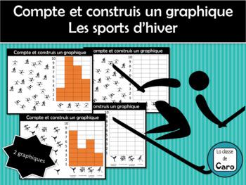Compte et construit un graphique - Les sports d'hiver - (French-FSL)