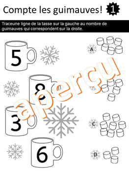Compte les guimauves - Chocolat Chaud - (French - FSL)