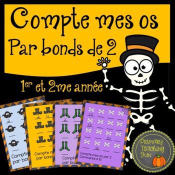 Compte par bonds de 2 pour l'halloween!  Math:  Skip Counting to 100 and beyond!